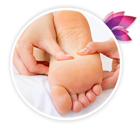 Swan foot spa relaxing reflexology is based on the internal organs and body systems can be influenced from applying pressure to the points on the feet ccuart Image collections